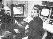 "Bror Wikstrom and Ture Sjolander 1966 in studio making ""TIME"" INVENTED VIDEO ART"